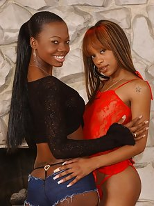 Classy Skinny Black Babes Flashed Their Hottest Bodies in Various Poses