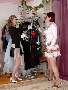 Agatha and Ninon sexy pantyhose gals
