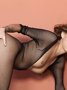 Fish Net Dress Wear Babe Kimberly Expose Her Sexual Parts in Different Styles