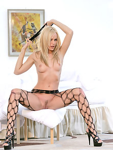 Blonde Sexy Crystal Klein Excited Looks Sexy and Seduce Action