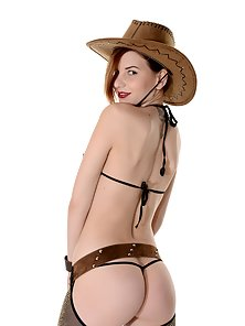 Horny Pretty Chick Candy Sweet with Hat Enjoying Pussy Showing Action