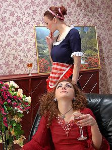 On Black Couch Sexiest Babe Esther Takes Twat Licking By Hot Babe Marion