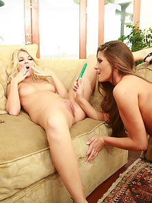 Stunning Lesbian Chicks Jana and Jordan Licking and Dildo Fucking