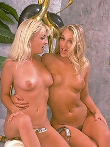 Two Sweet Babes Display Their Wet Bodies in Bathroom