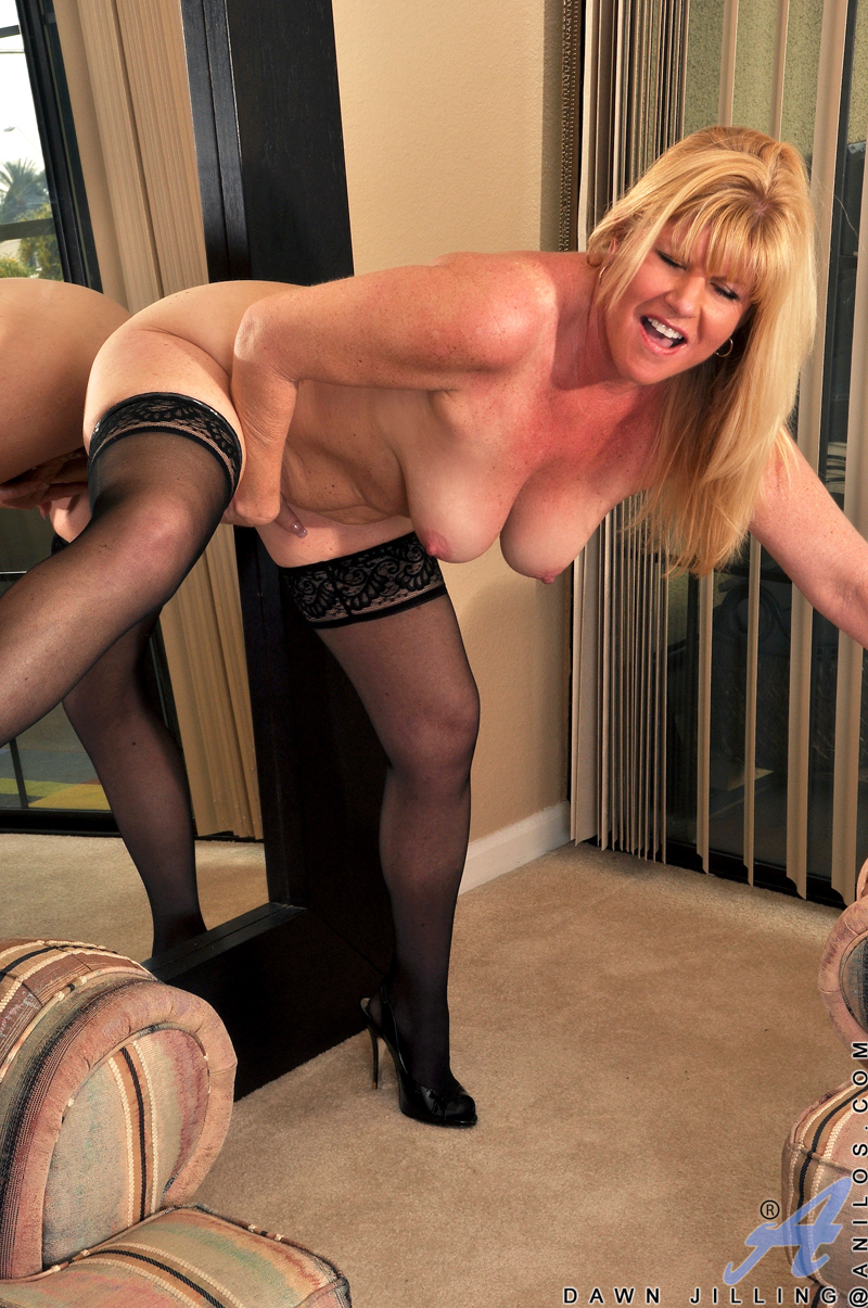 Black nylons and flats