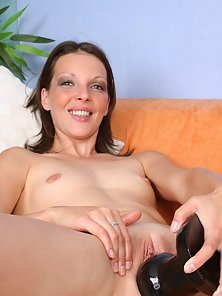 Skinny Sexy Alizia Pounded Hard With Two Brutal Dildo in Huge Excited
