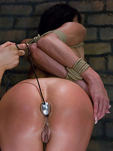 Cecilia Vega Having Deep Anal Fisting By Her Friend in Bondage