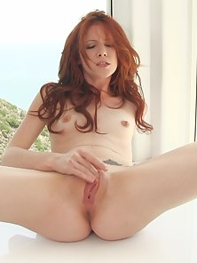 Redhead Elle Alexandra Dildoing Her Tight Pussy Hard