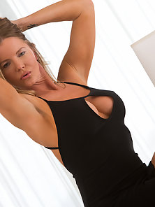 Busty Milf Excitedly Exposing Her Massive Boobs Inside Living Room
