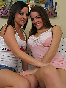 Dazzling Two Horny Chicks Natasha and Melissa Suckling and Licking Each Other