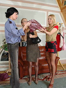 Ottilia and Rosaline and Florence mindblowing lesbian pantyhosers