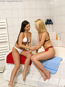 Amazing Cute Babes Daphne and Jo Enjoy Nice Licking in Horny Mood