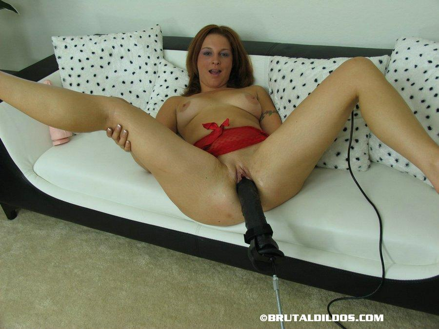 Splendid Tabitha Massive Riding a Brutal Dildo in Horny Action