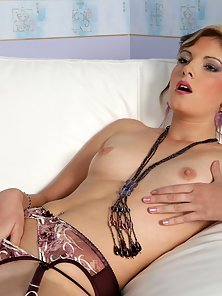 Slim Babe Bianca Fingered With Load Moaning Action on the Divan with Passion