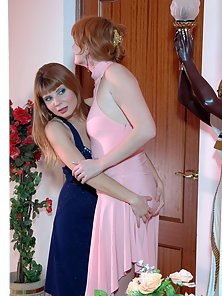 Alice and Irene and Judith Fucking With a Massive Dildo after Sucking It