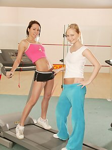 Free porn gallery picture Intense aerobic workout with a lesbian twist