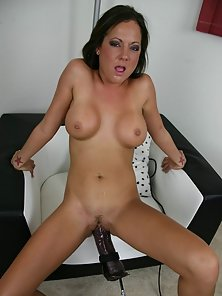 Sex Hungry Babe Sophia Gets Massive Fuck By Gigantic Dildo on Couch