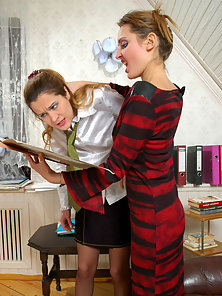 Spanking and Licking Action by Joanna and Grace with Pleasure
