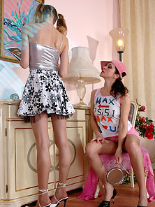 Naughty Babes Dolly and Joanna Displays Awesome Fingering and Licking Acts