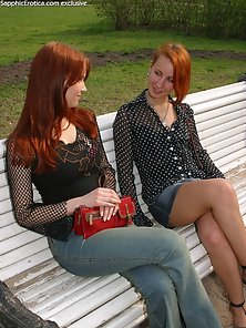 Red Haired Hot Babes Olivia and Lovisa Licking Kissing Romantically