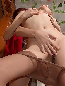 Lovely Polina and Elena Leggy Excitedly Lick Each Other Slits in Horny Moods