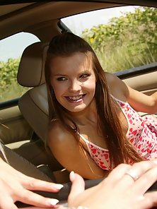 Hottest Babes Takes Awesome Lesbian Fun in Car to Get Pleasured