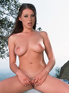 Skinny Little Babe Penny Stretching Her Pussy for Deep Fingering at Out Side