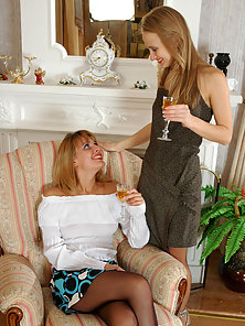 Grace and Florence Wearing Pantyhose Posing With Huge Passion