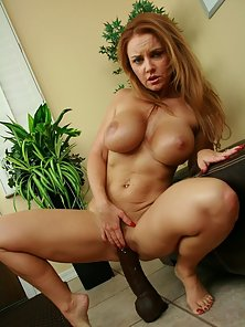 Long Hair Nude Blonde Chick Janet Showing Her Massive Tits on the Floor