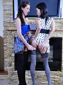 Betsey and Madeleine Hammered Hard In Doggystyle with Strapon Dildo