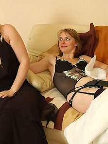 Naughty Sexy Young Lesbian Silvia and Inessa Hard Strap on Fucking Action