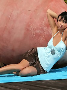 Dark Haired Mesmerizing Girl Debby Hot Toying and Fingering In Naked Body