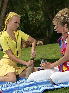 Dreams Girls Alison and Judit Deep Finger Sweet Pussies on Lawn First Time