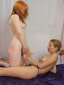Two Lesbian Sluts Making Kissing and Deeply Toys Fucking