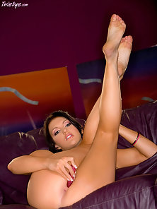 Nasty Brunette Babe Veronica Shows Her Tits and Pussy Just Removes Her Dress