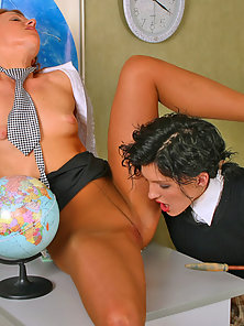 Silky School Teen Stephana Learning Pussy Licking From Her Teacher Laura