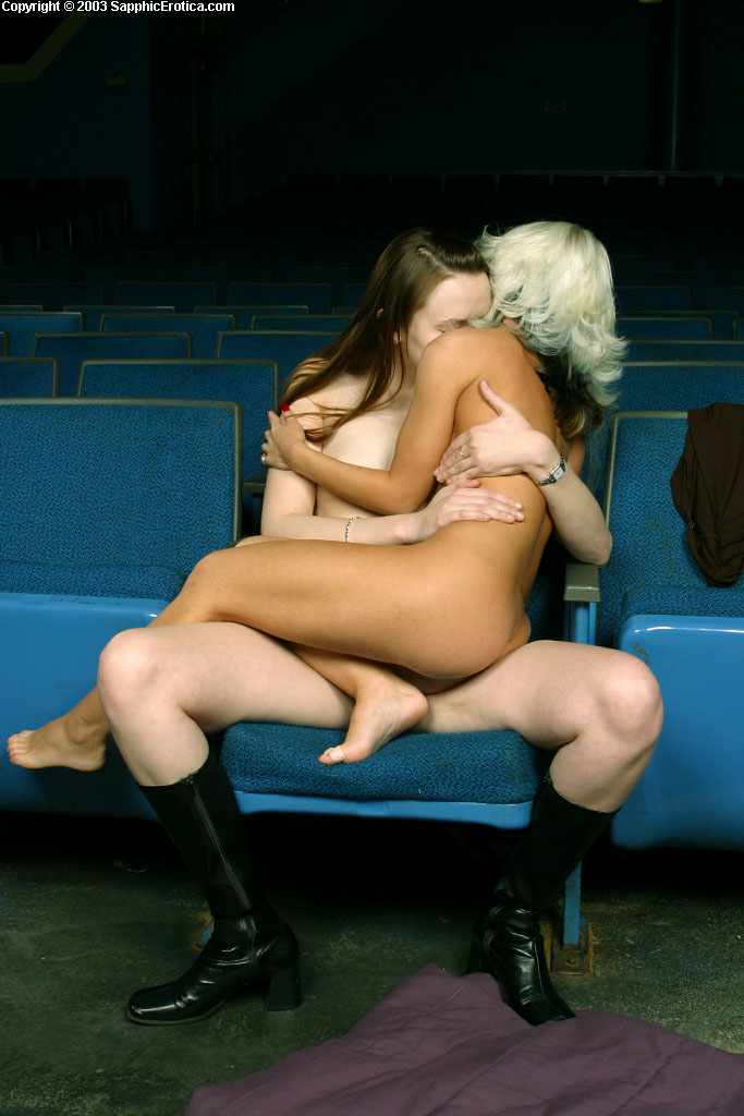 blonde and brunette lady sonya skyeler movie theater sex