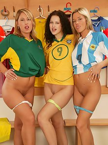 Hottest Player Striping Their Panties and Playing Football in the Room