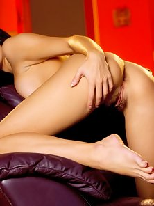 Tabitha Flashed Her Hairy Twat Crazily In Horny Moods