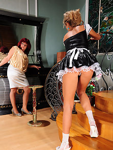 Sexiest Lesbian Babes Viola and Nora Takes Deeply Lip Kisses to Each Other
