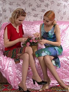 Rosa and Elena Are Two Cute Lesbian Girls Enjoying the Horny Pleasuring