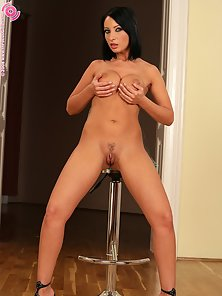 Dazzling Beauty Lysa Nudes and Fucks Black Vibrator in Different Actions