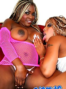 Two Naughty Black Lesbian Babes Spanking Each Other Rounded Ass
