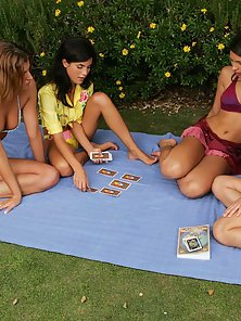 Nude Lesbians Kia Jackie Jo and Zafira Making Group Sex In Outdoor