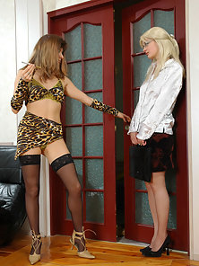 Stunning Blonde Babes Maria and Ninon Kissed and Licked Pleasure