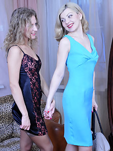Shinning Sexy Young Babes Ninette and Barbara Hard Twat Licking In 69 Poses