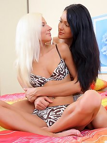 Two Classy Hottest Babes Nichol and Melissa Takes Huge Black Cock in Their Twats