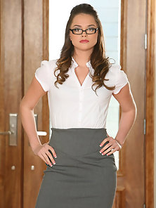 Gorgeous Looking Secretary Tori Black Takes It All Off and Have Deep Lesbian Action