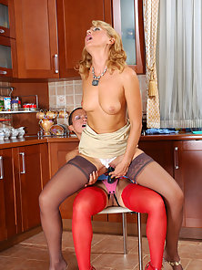Blonde Babe Bridget Takes Strap on Fucking By Her Partner Sheila
