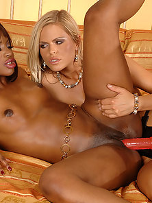 Hot Interracial Lesbian Sex by Sexy Busty Jasmine and Wivien